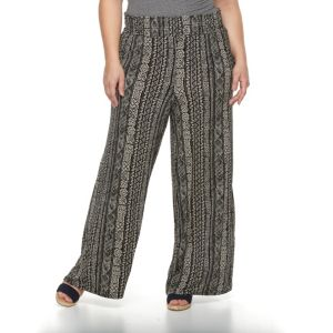 Plus Size French Laundry Printed Palazzo Pants